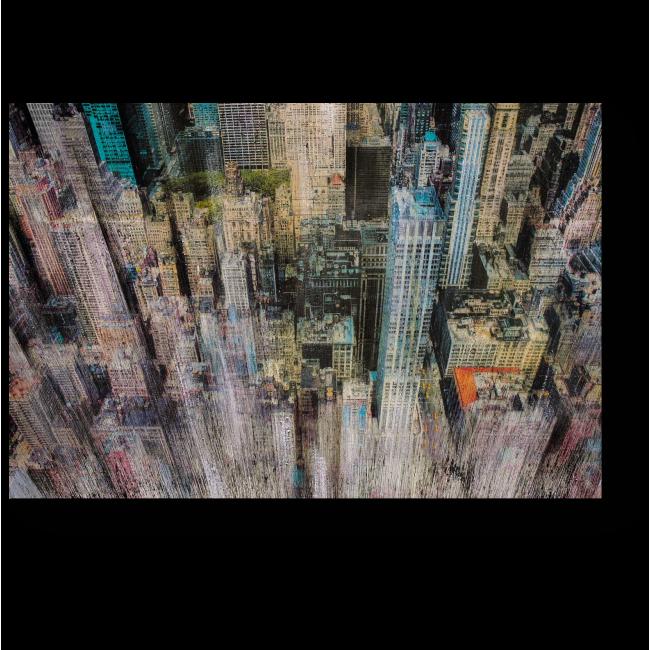 Модульная картина Размытые небоскребы