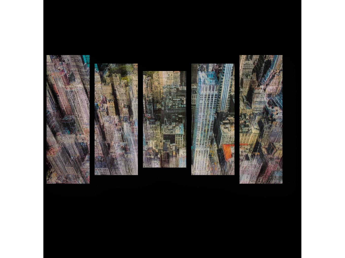 Модульная картина Размытые небоскребы (90x54) фото