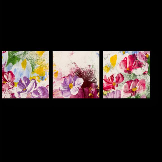 Модульная картина Цветочная красота