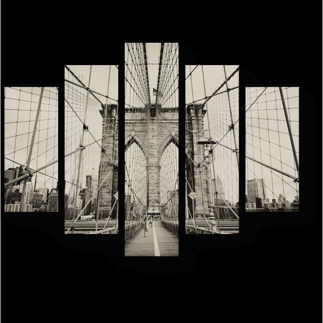Модульная картина Все мосты ведут в Нью-Йорк