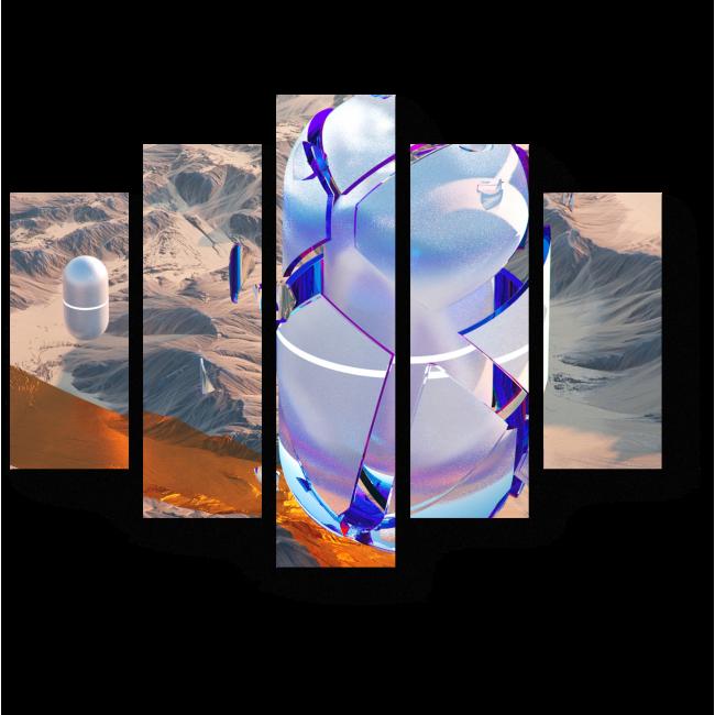 Модульная картина Капсула времени