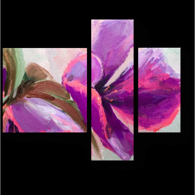 Модульная картина Цветы в стиле импрессионизм