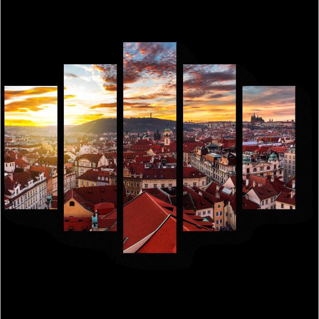 Модульная картина Великолепие Чехии