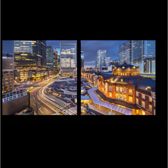 Модульная картина 1000 огней ночного Токио