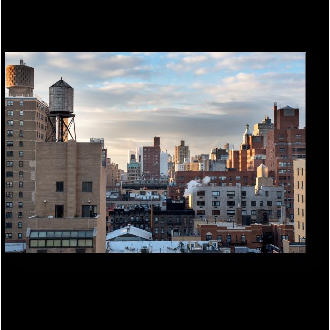 Модульная картина Рассвет над городом