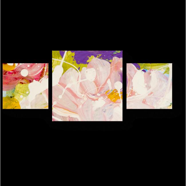 Модульная картина Цветочная фантазия