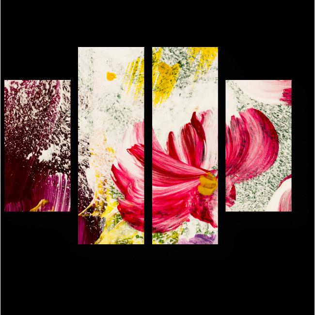 Модульная картина Весенние цветы, абстракция