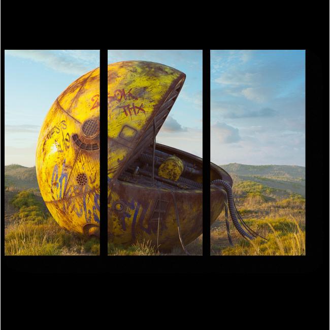 Модульная картина Потерянный смайлик