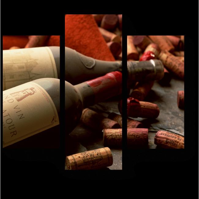 Модульная картина Коллекционное вино