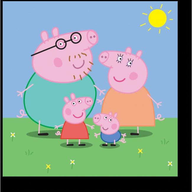 Модульная картина Счастливая семья