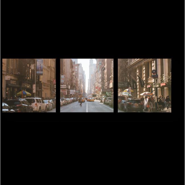 Модульная картина Дорогами Нью-Йорка