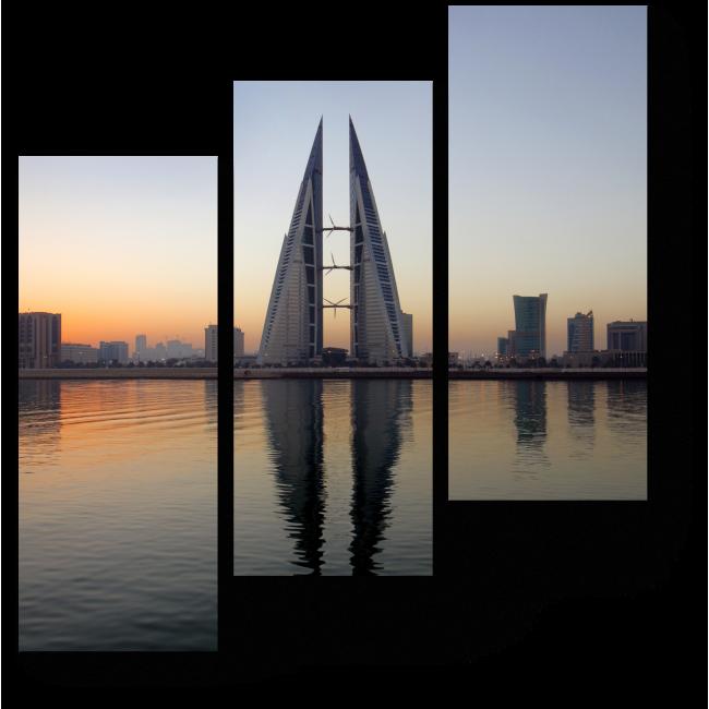 Модульная картина Симметричные небоскребы