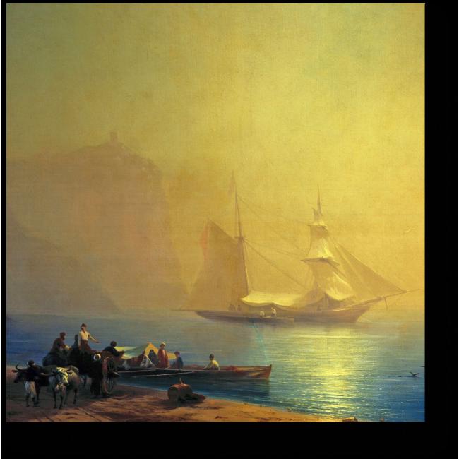 Модульная картина Утро на морском берегу. Судак. 1856 год.