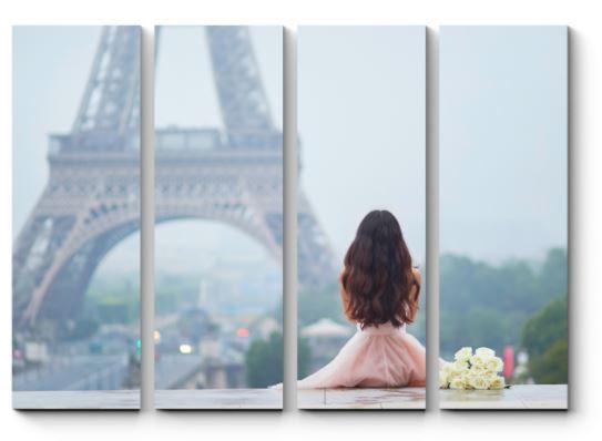 модульная картина с Эйфелевой башней