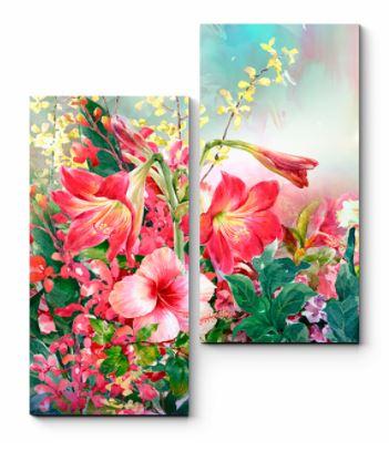 картина с яркими цветами