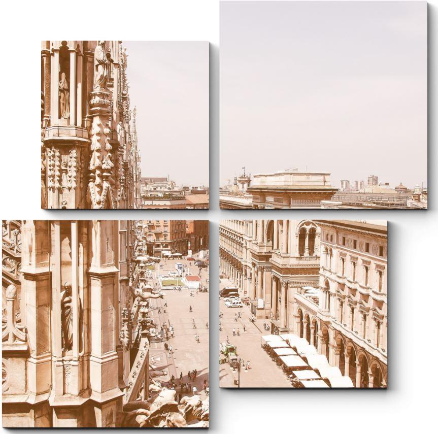 картина с винтажным Миланом