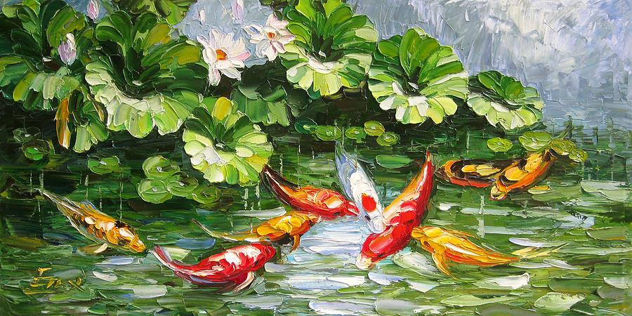 картина феншуй рыбы