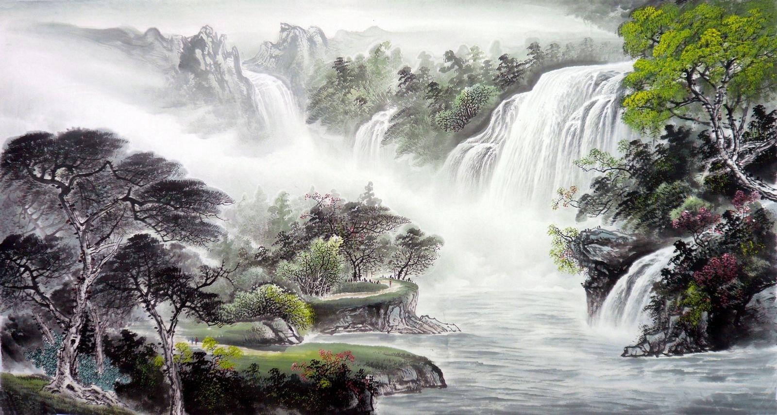 картина феншуй горы
