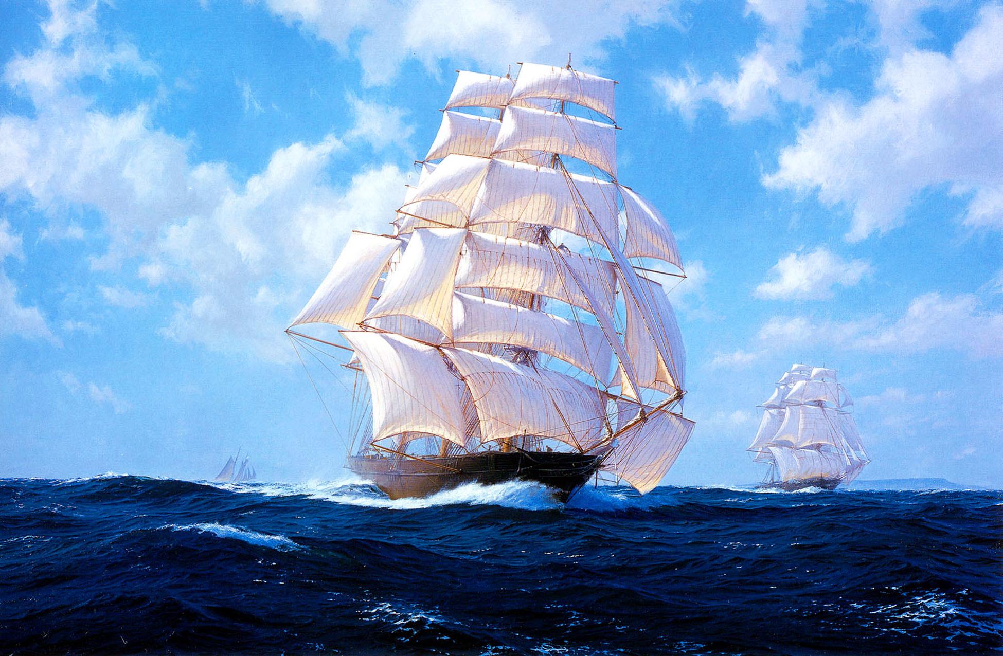 картина феншуй море