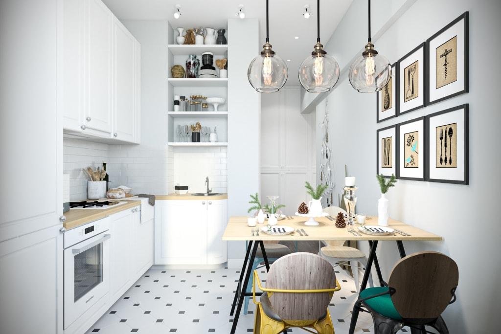 картина в интерьере кухне