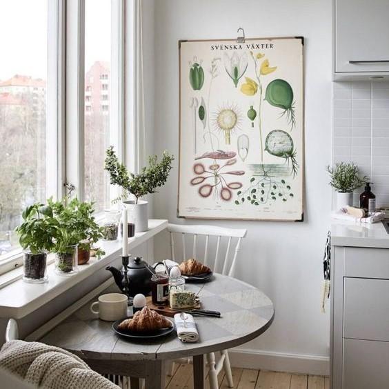 цветы на кухне