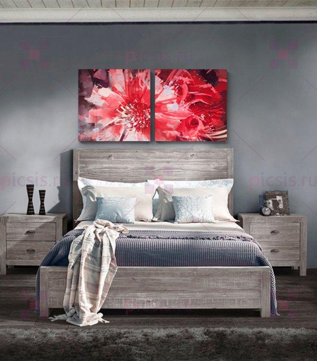 картина в спальне