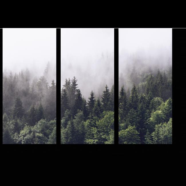 картина с лесным пейзажем