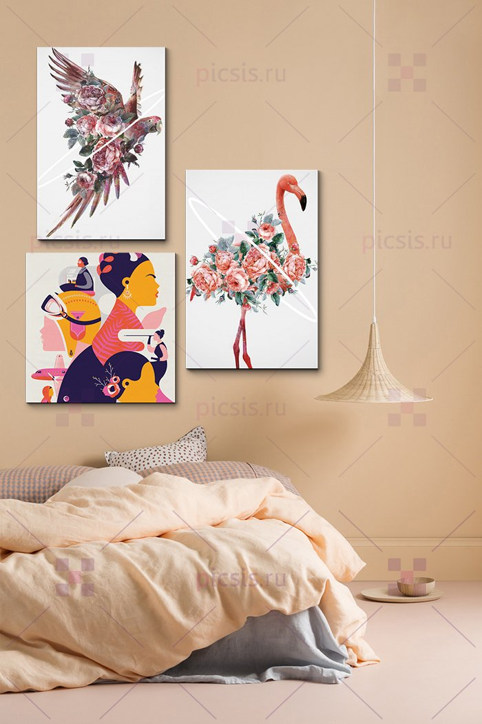 светлые постеры для спальни