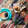 Картина с кофе и лавандой