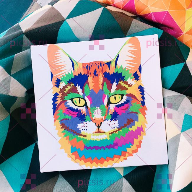 Модульная картина с котом