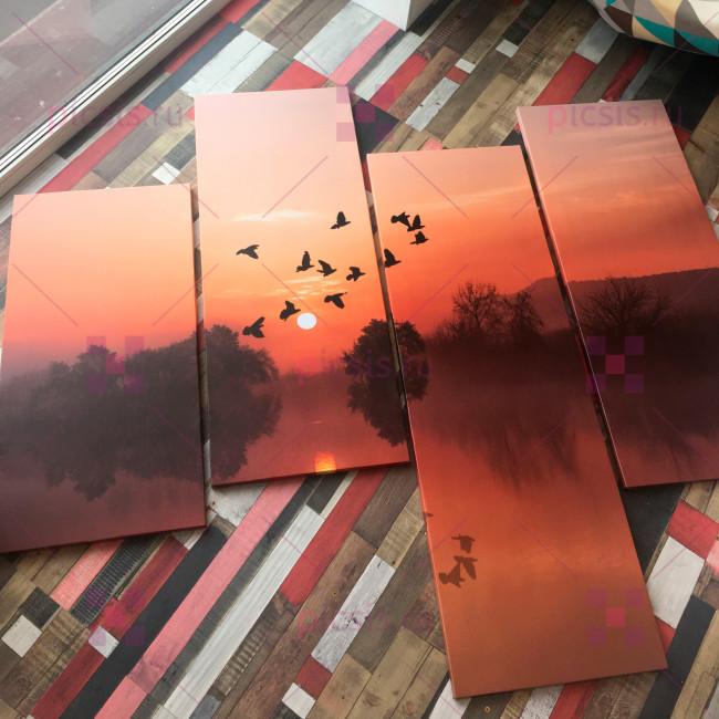 Картина с закатом
