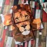 модульная картина со львом